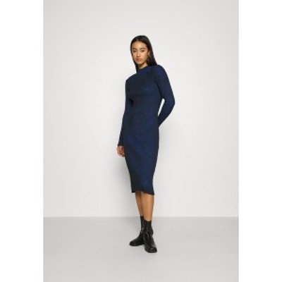 ジースター レディース ワンピース トップス PLATED LYNN DRESS MOCK - Shift dress - imperial blue/dark black imperial blue/dark bla