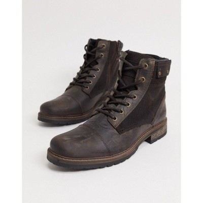 リバーアイランド メンズ ブーツ&レインブーツ シューズ River Island Boots In Brown Brown