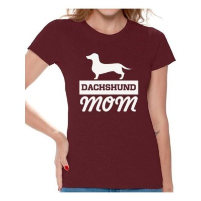 レディース 衣類 トップス Awkward Styles Women's Dachshund Mom Dog Lover Graphic T-shirt Tops Dachsie Tシャツ