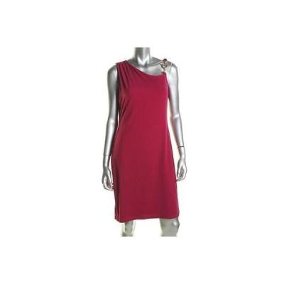 イヴァンカトランプ ドレス ワンピース Ivanka Trump 5583 レディース ピンク Matte Jersey ノースリーブ Cocktail ドレス 14 BHFO