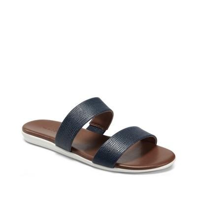 エアロソールズ サンダル シューズ レディース Women's Clovis Banded Slide Sandal Navy Faux Leather