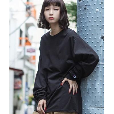 ROOP TOKYO / 【Champion Authentic T-SHIRTS】 レディース チャンピオン ビッグシルエット 無地 ロンT/長袖Tシャツ WOMEN トップス > Tシャツ/カットソー