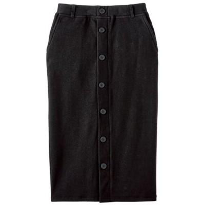 裏起毛タイトスカート(吸湿発熱・保湿・静電防止)/ブラック/M
