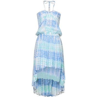HIPPY CHICK ミニワンピース&ドレス スカイブルー S レーヨン 100% ミニワンピース&ドレス