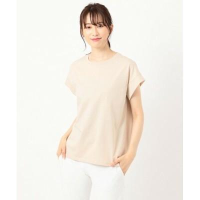 any FAM/エニィファム 【オーガニックコットン】オーガビッツバックロゴ Tシャツ ベージュ系 F