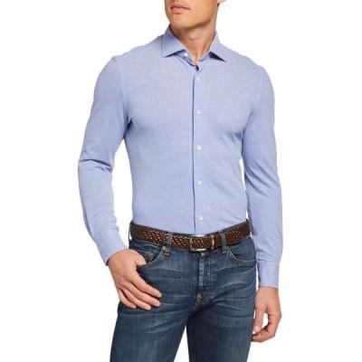 ボリオリ メンズ シャツ トップス Men's Pique Cotton Sport Shirt