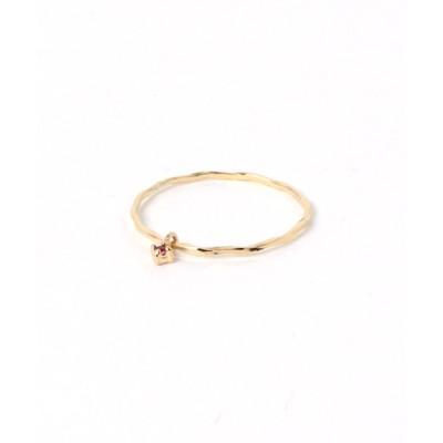 指輪 カットピンキーリング