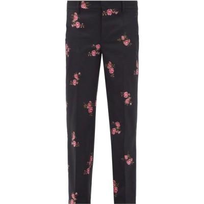 レッド ヴァレンティノ REDValentino レディース ボトムス・パンツ Floral-jacquard wool-blend twill trousers Black