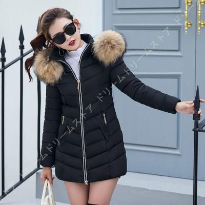 ダウンジャケット ライトダウン ダウンコート アウター 上着 ロングコート レディース 大きいサイズ フード付き 秋冬 ライトダウンコート 軽量 防寒