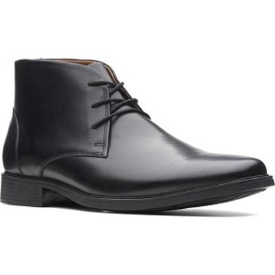 クラークス メンズ ブーツ&レインブーツ シューズ Tilden Top Chukka Boot Black Full Grain Leather