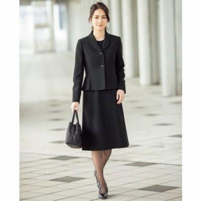 レディースファッション ブラックフォーマルアンサンブル(ジャケット+ワンピース)(洗濯機OK) 5AP 7AP 7AR 9AR 11AR 13AR|2206-404868