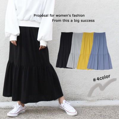 WBN5 ティアードスカート