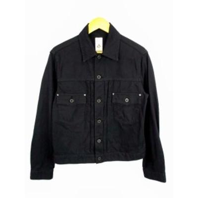 【中古】ビームス BEAMS セイ CEI トラッカージャケット ジャケット セカンド 綿 コットン 無地 サイズL 黒 ブラック