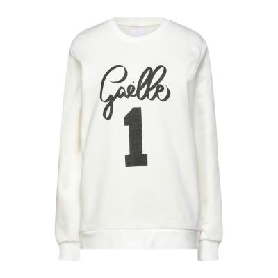 GAëLLE Paris スウェットシャツ アイボリー 2 コットン 100% スウェットシャツ
