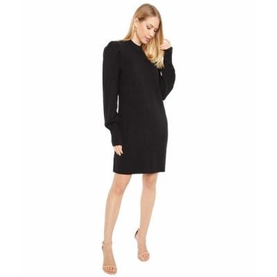 ワイフ ワンピース トップス レディース Lola Puff Sleeve Sweater Dress Black