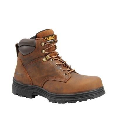 カロリーナ メンズ ブーツ&レインブーツ シューズ Men's Forman 6#double; Waterproof Steel Toe Work Boots Copper Crazy Horse