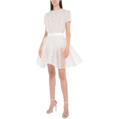 ELISABETTA FRANCHI ミニワンピース&ドレス ホワイト 40 ポリエステル 100% / ナイロン ミニワンピース&ドレス