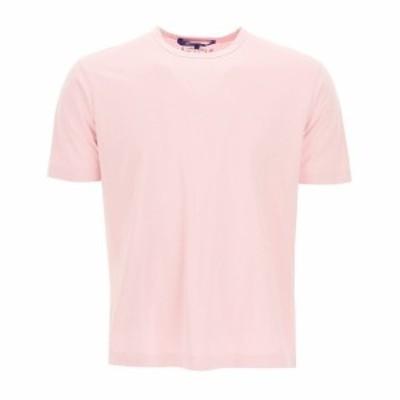 JUNYA WATANABE COMME DES GARCONS/ジュンヤ ワタナベ コム デ ギャルソン Pink Junya watanabe man crewneck t-shirt メンズ 春夏2021 W