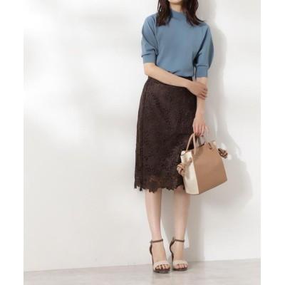 【エヌナチュラルビューティベーシック】 ケミカルレースタイトスカート レディース トープ M N.Natural Beauty Basic