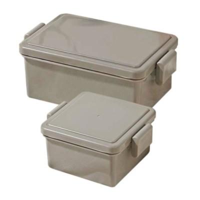 三好製作所弁当箱 フタが保冷剤になるランチボックス 400ml+220ml アソートセット ブラウン 1段 ロハコ(LOHACO)オリジナル
