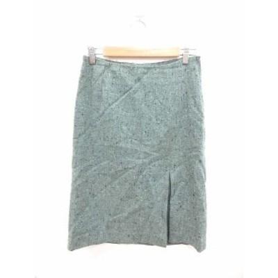 【中古】マサキマツシマ MASAKI MATSUSHIMA スカート タイト ミモレ ロング 総柄 2 緑 ミントグリーン /KB レディース