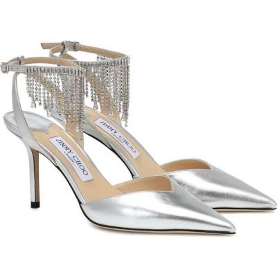 ジミー チュウ Jimmy Choo レディース パンプス シューズ・靴 Birtie 85 embellished leather pumps Silver/Crystal