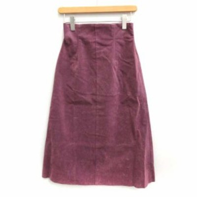 【中古】フレイアイディー FRAY I.D 18SS スカート 台形 ロング 0 パープル 紫 /YO27 レディース