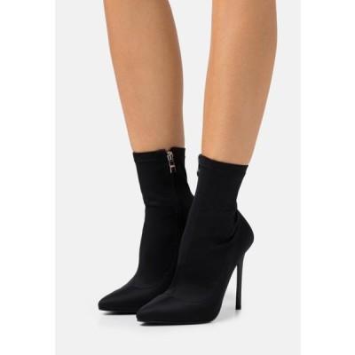 レディース ブーツ ZABEL - High heeled ankle boots - black