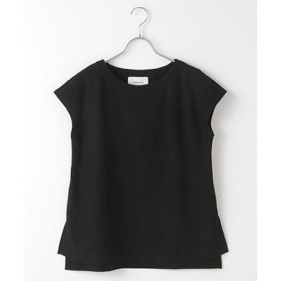LOURMARIN/ルールマラン ドライコットンフレンチスリーブTシャツ ブラック FREE