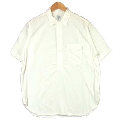 POST OVERALLS ポストオーバーオールズ プルオーバー 半袖シャツ ホワイト系 L【中古】