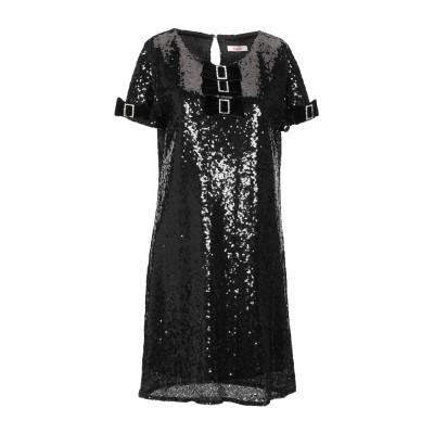 ブルーガール ブルマリン BLUGIRL BLUMARINE ミニワンピース&ドレス ブラック 40 ポリエチレン 90% / ポリエステル 10%