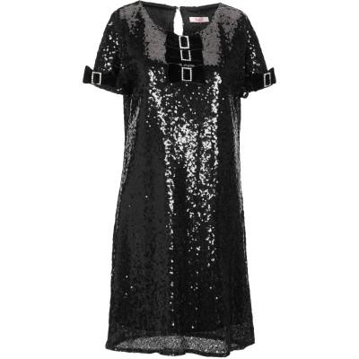 ブルーガール ブルマリン BLUGIRL BLUMARINE ミニワンピース&ドレス ブラック 38 ポリエチレン 90% / ポリエステル 10%