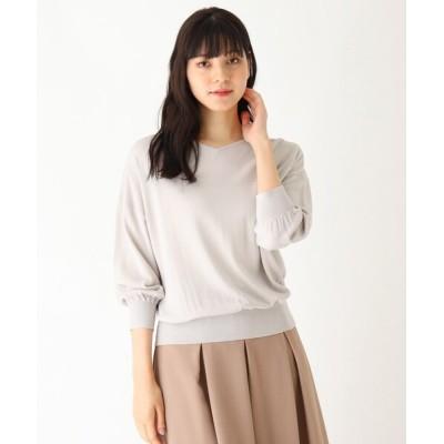 SOUP / 【大きいサイズあり・13号】UVカット機能付き7分袖ニットプルオーバー WOMEN トップス > ニット/セーター