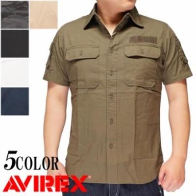 AVIREX [アヴィレックス] 半袖 ファティーグ カーキ シャツ 6175093 送料無料