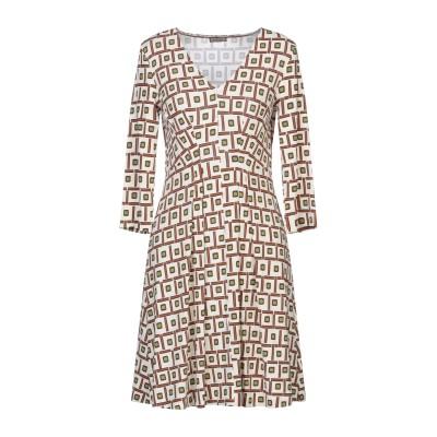 MALÌPARMI ミニワンピース&ドレス アイボリー 40 レーヨン 92% / 指定外繊維(その他伸縮性繊維) 8% ミニワンピース&ドレス