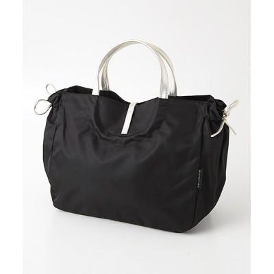 brontibayparis/ブロンティベイパリス A4ナイロントートバッグ「シエナ」 ブラック*ゴールド F