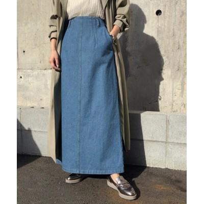 HER CLOSET / 21SS【&g'aime】ステッチデニムスカート/デニムロングスカート WOMEN スカート > デニムスカート