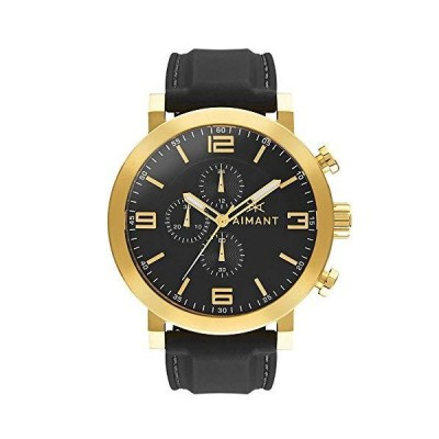 AIMANT Men's Watch Maui Gold with Black Sillicone Strap GMU-140SI1-1G