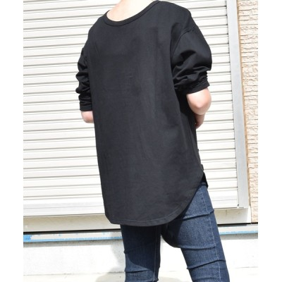 tシャツ Tシャツ ボタン付き2WAY長袖カットソー