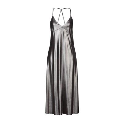 スーベニア SOUVENIR 7分丈ワンピース・ドレス 鉛色 M ポリエステル 92% / ポリウレタン 8% 7分丈ワンピース・ドレス