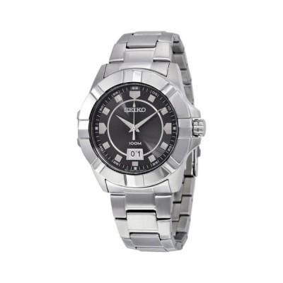 セイコー Lord ブラック ダイヤル ステンレス スチール メンズ 腕時計 SUR129