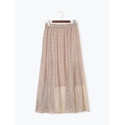 【テチチ/Te chichi】 シアーストライプ小花柄スカート