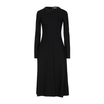 .AMEN. 7分丈ワンピース・ドレス ブラック 38 レーヨン 71% / ナイロン 23% / ポリウレタン 6% 7分丈ワンピース・ドレス