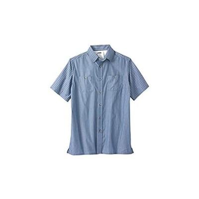 KingSize Men's Big & Tall Striped Short-Sleeve Sport Shirt - Tall - L, Slat