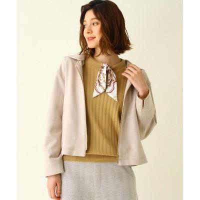 SHOO・LA・RUE/Mrs.(シューラルー/ミセス) ◆マシュマロフェイクスエードフーデットジャケット