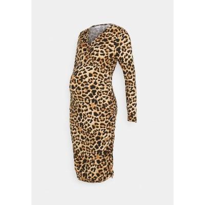 ママリシャス ワンピース レディース トップス MLAIMY LEO TESS DRESS - Jersey dress - black/brown