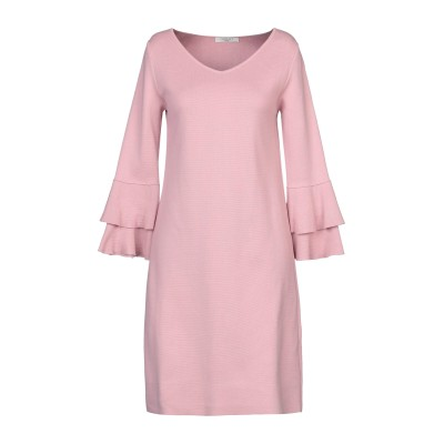 CHARLOTT ミニワンピース&ドレス ピンク S コットン 100% ミニワンピース&ドレス