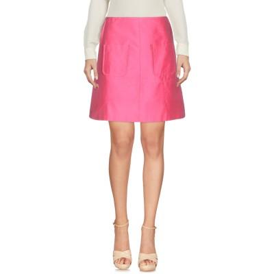 ブルーガール ブルマリン BLUGIRL BLUMARINE ひざ丈スカート フューシャ 38 シルク 100% ひざ丈スカート