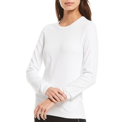 ダナ キャラン ニューヨーク レディース Tシャツ トップス Sport Knit Jersey Cotton Blend Long Sleeve Logo Embroidered Tee