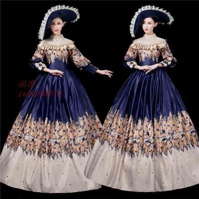 貴族 ドレス お姫様 プリンセスライン カラードレス 貴婦人 服 文化祭 貴族 舞踏会 プリンセスライン学園祭